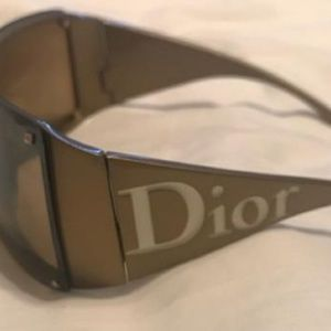 Christian Dior, RARE, 1990's shape, gold and white